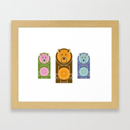 Bear With The Mod Target Belly Framed Art Print