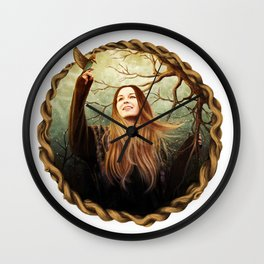 winter girl Wall Clock