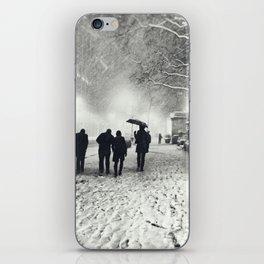 New York City Snow Bryant Park iPhone Skin