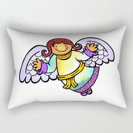 Christmas Angel Cartoon Doodle Rectangular Pillow