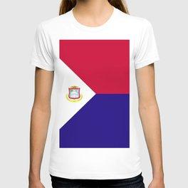 Saint Martin flag emblem T-shirt