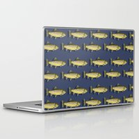 trout Laptop & iPad Skins featuring Brown Trout by Trinity Mitchell
