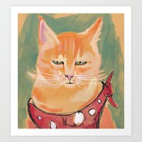 ginger Art Prints featuring Ginger by Katie O'Hagan