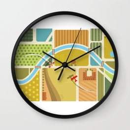 from above in the skies of Picardy Wall Clock