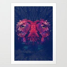 OWLS - Psychedelic | Art | Movement | Pop Art | Abstract | Animals | 70's | Trip  Art Print
