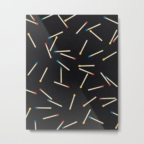Matchsticks Metal Print