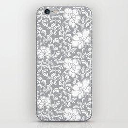 Japanese garden in grey iPhone Skin