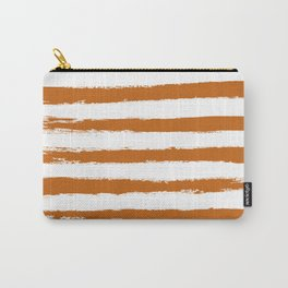Autumn Maple STRIPES Handpainted Brushstrokes Carry-All Pouch