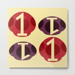 1UP 1DWN Metal Print