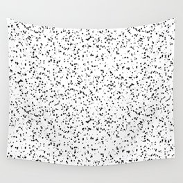 Speckles I: Double Black on White Wall Tapestry