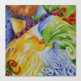 Cat Abstract Original Art Canvas Print