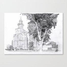 St. George LDS Temple Canvas Print