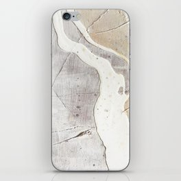 Feels: a neutral, textured, abstract piece in whites by Alyssa Hamilton Art iPhone Skin
