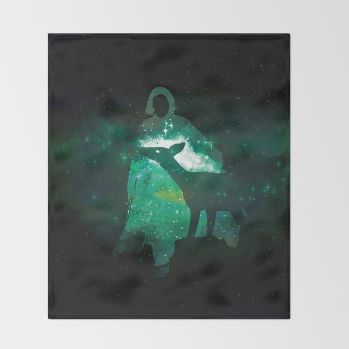 Snape and the Doe Throw Blanket