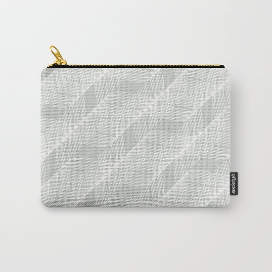 Gray Grey Helix Sea Salt Carry-All Pouch