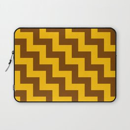 Amber Orange and Chocolate Brown Steps LTR Laptop Sleeve