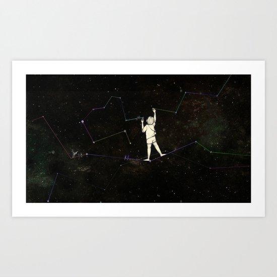 DRAWING STARS Art Print