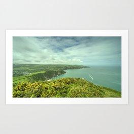 Combe Martin Panorama Art Print