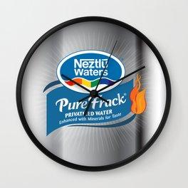 Pure Frack Pinkwash Wall Clock