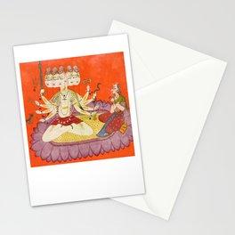 Sadashiva worshipped by Parvati, Devidasa , 1690 Stationery Cards