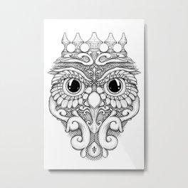 Rococo Owl Metal Print