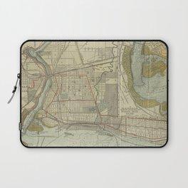 Vintage Map of Niagara Falls NY (1893) Laptop Sleeve