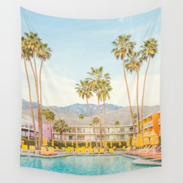 Poolside in Palm Springs - Travel Photography Wall Tapestry