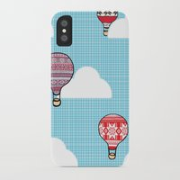hot air balloons iPhone & iPod Cases featuring Cozy Hot Air Balloons by The Wellington Boot