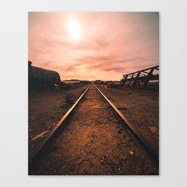 Train Tracks in the Desert Canvas Print