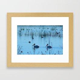 A Pleasant Swim Framed Art Print