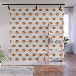 Texas longhorns orange and white university college texan football pattern Wall Mural