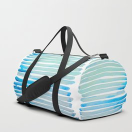 New Year Blue Water Lines Duffle Bag