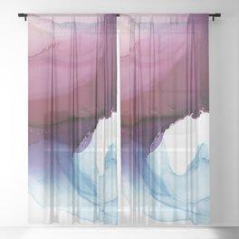 Shades of Purple Sheer Curtain