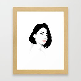 Pink Lips Framed Art Print