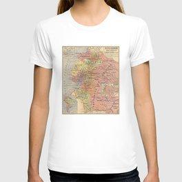 Vintage Map of Ecuador (1913) T-shirt