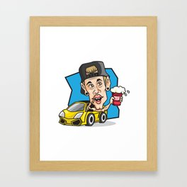 RED CUP Justin Beeeber #redcupcrew Framed Art Print