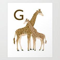 Alphabet Print - G Art Print