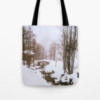 fairy tale Tote Bags featuring Fairy tale. by Carola Ferrero