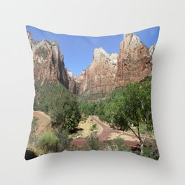 Crossroads At The Court Of The Patriarchs Throw Pillow