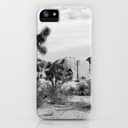Black and White Joshua Tree National Park iPhone Case