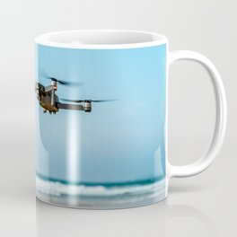 UAV Drone Quadcopter And Digital Camera Flying, Technology, Unmanned Aerial Vehicle, Drone Photo Coffee Mug