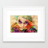the joker Framed Art Prints featuring joker by mark ashkenazi
