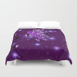 Power Purple For a Cure - Fairy Dust Duvet Cover