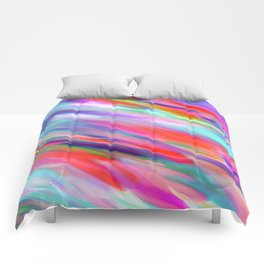 Colorful digital art splashing G399 Comforters