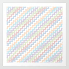 Colourful Chevron Pattern Art Print