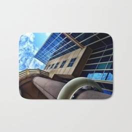 UFO Blue Building  Bath Mat