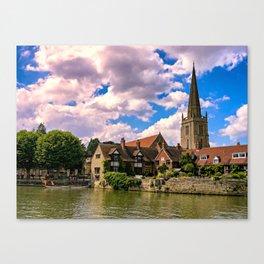 Along the Thames. Canvas Print