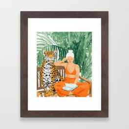 Jungle Vacay #painting #illustration Framed Art Print