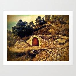 Cabaña de piedra Art Print