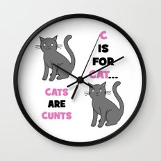 C is for Cat... Wall Clock